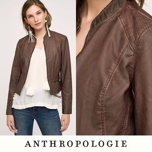 "Anthropologie Hei Hei ""Dara"" vegan leather jacket"